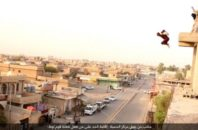 Image released by ISIS showing a man being executed for allegedly being a homosexual.