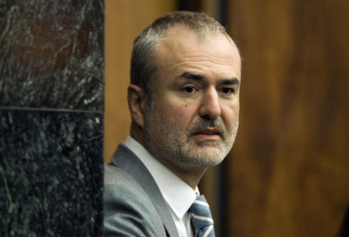 FILE - In this Wednesday, March 16, 2016, file photo, Gawker Media founder Nick Denton arrives in a courtroom in St. Petersburg, Fla. Spanish-language broadcaster Univision has bought Gawker Media in an auction for $135 million. That's according to a person familiar with the matter who asked not to be identified because the deal had not been formally announced.