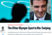 Nico Hines and the headline from his article outing gay Olympians