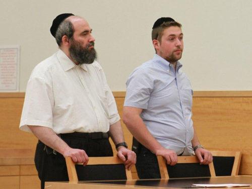 Abraham Winkler, left and Pinchas Braver