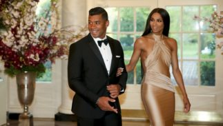 Russell Wilson and Ciara tied the knot on Wednesday. The couple is shown here at a Japanese State Dinner in 2015.