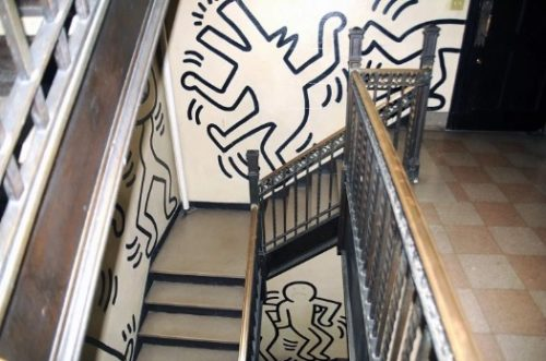 Keith Haring murals adorn the walls of this W 108th Street property that could be turned into condos by a developer.