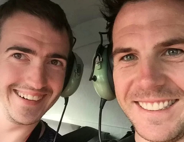 Olly McLellan, 32, and his partner Scott Cole, 30