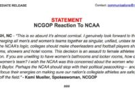 Official statement from the North Carolina GOP after the NCAA announced it would pull all championship games from the state over anti-LGBT laws.