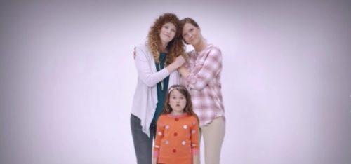 One of the versions of family shown in the new Nissan commercial airing in Israel.