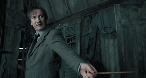 Actor David Thewlis as Remus Lupin