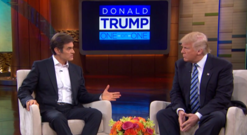 Donald J. Trump shared his medical records on the Dr. Oz show.