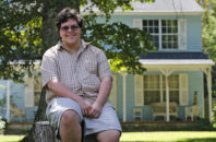 In this Monday, Aug. 22, 2016 photo, transgender high school student Gavin Grimm poses in Gloucester, Va. Grimm, who was assigned female at birth but identifies as male, heads back to Gloucester High School for his senior year as the U.S. Supreme Court considers whether to intervene in his case that challenges the county school's policy barring him from using the bathroom of his choice.