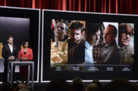 FILE - In this Thursday, Jan. 15, 2015 file photo, Chris Pine, left, and Academy President Cheryl Boone Isaacs announce the Academy Awards nominees for best actor in a leading role at the 87th Academy Awards nomination ceremony in Beverly Hills, Calif. A report to be released Wednesday, Sept. 7, 2016 by the Media, Diversity and Social Change Initiative at the University of Southern California's Annenberg School for Communication and Journalism finds little evidence of Hollywood improving in the diversity of its movie characters or directors.