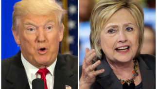 File-This file photo combo of file images shows U.S. presidential candidates Donald Trump, left, and Hillary Clinton. Trump wants to spur more job creation by reducing regulations and cutting taxes to encourage businesses to expand and hire more. He also says badly negotiated free trade agreements have cost millions of manufacturing jobs. He promises to bring those jobs back by renegotiating the NAFTA agreement with Canada and Mexico, withdrawing from a proposed Pacific trade pact with 11 other nations, and pushing China to let its currency float freely on international markets. Clinton has promised to spend $275 billion upgrading roads, tunnels and modern infrastructure such as broadband Internet, to create more construction and engineering jobs. Trump has said in interviews he would spend twice as much.