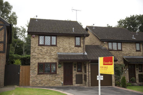 An exterior view shows the house for sale that starred onscreen as Harry Potter's childhood home in the town of Bracknell, England, just over 30 miles (50 kms) west of central London, Tuesday, Sept. 20, 2016. Fans of the boy wizard will recognize it as the fictional address of 4 Privet Drive, home of Harry's dastardly aunt and uncle, the Dursleys, who made him sleep in a cupboard under the stairs. The 3-bedroom house is being sold by real estate agent Chancellors with an asking price of 475,000 pounds ($616,000).