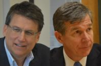 North Carolina Governor Pat McCrory and Attorney General Roy Cooper