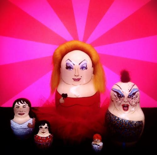 BoBo Babushka's set of Divine Russian dolls.