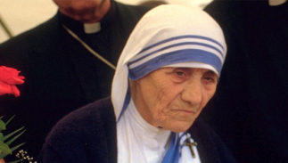 Mother Teresa at a pro-life meeting in Germany