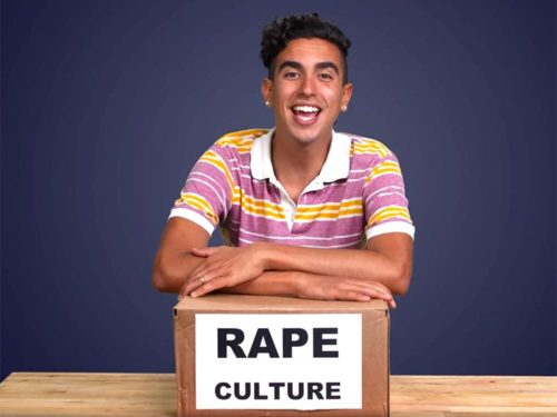 Out actor Dylan Marron explains rape culture with humor.