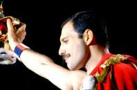 Freddie Mercury in concert.