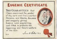 A World War I era eugenics certificate