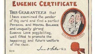 A World War I era eugenics certificate