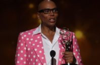 RuPaul accepts the Emmy