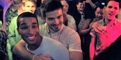 """The dance club depicted in the CDC music video for """"Collect My Love"""" (full video below). Condoms, PrEP, and being HIV positive and undetectable all get screen time."""