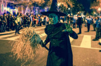 The Wicked Witch of the West competes in the 2015 High Heel Drag Queen Race, an informal costumed drag queen race held the Tuesday before Halloween in Washington, D.C.