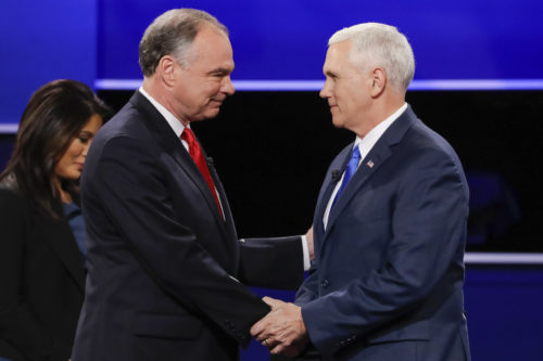 Kaine, Pence clash at VP debate