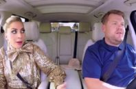 Lady Gaga and James Corden performing carpool karaoke