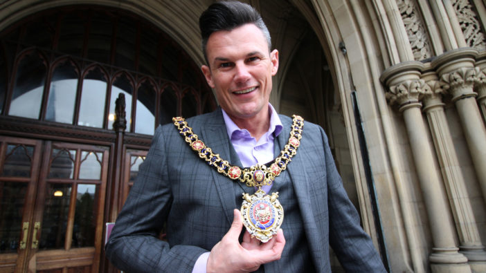 Manchester, England Lord Mayor Carl Austin-Behan
