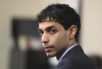 FILE – In this March 2, 2012, file photo, Dharun Ravi waits for his trial to begin at the Middlesex County Courthouse in New Brunswick, N.J.  Ravi, a former Rutgers University student, whose roommate Tyler Clementi killed himself in 2010 after being captured on a webcam kissing another man, pleaded guilty Thursday, Oct. 27, 2016, to attempted invasion of privacy, and was sentenced to probation and 30 days time served.