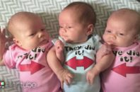 Ellen surprises new dads with gifts for their newborn triplets.