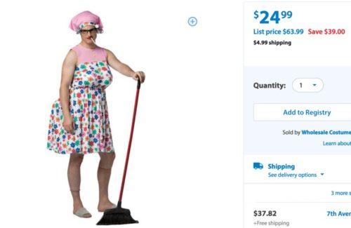 "Walmart's ""tranny granny"" Halloween costume"