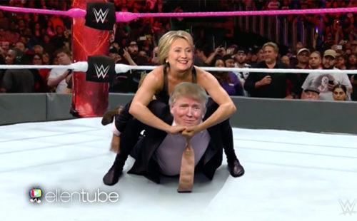 ellen trump clinton debate