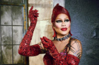 Laverne Cox as Dr. Frank N. Furter in the Rocky Horror Picture Show