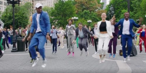 Humanity for Hillary's #PantsuitPower flashmob