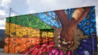 A pride mural in Kelowna, British Columbia