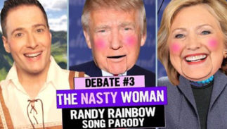 randy rainbow third debate