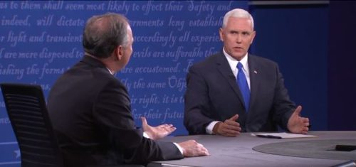 Tim Kaine and Mike Pence debate.