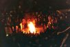 LGBT activists set fire to a coffin in San Francisco the night Bill Clinton was elected President.