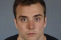 This June 29, 2016, photo released by Los Angeles County Sheriff's Department shows Calum McSwiggan, a gay YouTube personality. McSwiggan was charged with vandalizing a car belonging to a man who he had an altercation with outside a West Hollywood gay club in late June, then falsely claiming he was beaten by the man and his friends. McSwiggan pleaded guilty to felony vandalism and was sentenced to three years of supervised probation and 52 weeks of anger management.