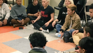 Lady Gaga visited the Ali Forney Center the day after Thanksgiving.