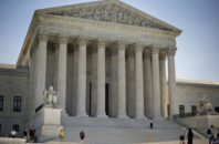 In this June 30, 2014 file photo, the Supreme Court is seen in Washington. Donald Trump will enter the Oval Office with the ability to re-establish the Supreme Court's conservative tilt and the chance to cement it for the long term. Trump is expected to act quickly to fill one court vacancy and could choose the successor for up to three justices who will be in their 80s by the time his term ends.