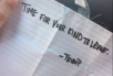 A lesbian couple in Ridgefield, Washington say they found this note taped to their door following the election.