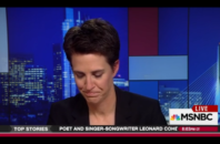 MSNBC host Rachel Maddow gets choked up talking about VP-elect Mike Pence's anti-gay policies.