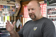 Myron Lewis, a resident of Elliott County Ky., explains why he believes that the county supported Donald Trump. Thursday, Nov. 10, 2016 in Sandy Hook Ky. On Tuesday, Lewis was one of the voters who helped the county shift from voting for Democrats since its founding in 1869 to choosing Republican Donald Trump in 2016. Seventy percent backed Trump in a county Barack Obama won twice.