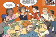 "Alison Bechdel illustrated the cover of Seven Days in a recent issue featuring a reprisal of her comic ""Dykes to Watch Out For."""