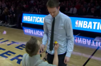 A gay couple got engaged during a recent Chicago Bulls game.