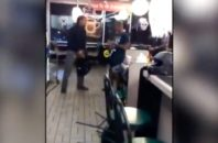 A Waffle House patron attacks an apparently gay young man.