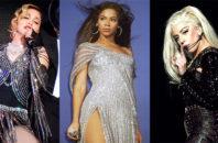 Madonna, Beyonce and Lady Gaga