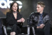 "Mary-Louise Parker, left, and Dustin Lance Black speak at the ""When We Rise"" panel at the Disney/ABC portion of the 2017 Winter Television Critics Association press tour on Tuesday, Jan. 10, 2017, in Pasadena, Calif."