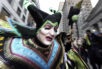 Nick Magenta, captain of the Polish American String Band, is the character Maleficent on Broad St. during the 2017 Mummers Parade in Philadelphia., on Sunday, Jan. 1, 2017.